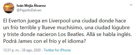 Iván Mejía, James Rodríguez, Everton, Real Madrid