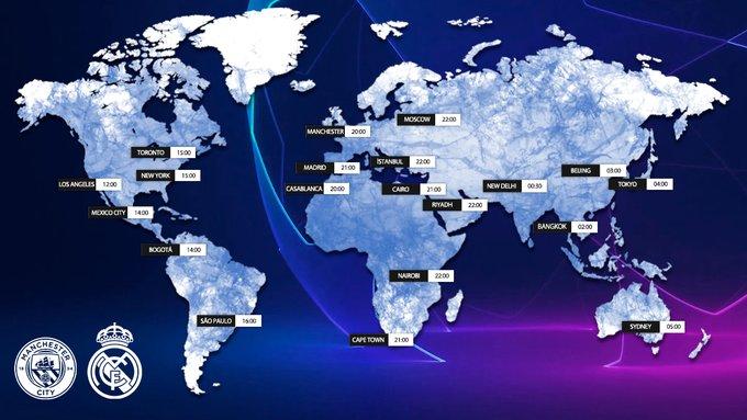 James Rodríguez, Manchester City vs. Real Madrid, Champions League 2019-20, horarios