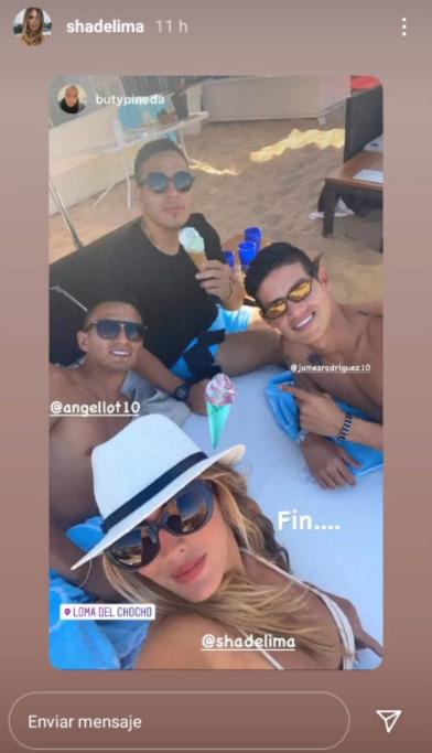 James Rodríguez, Shannon de Lima, Ibiza, Instagram