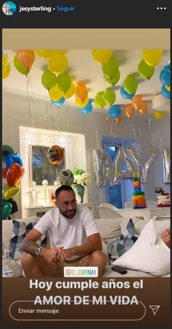 Jessica Sterling, cumpleaños, David Ospina (2)