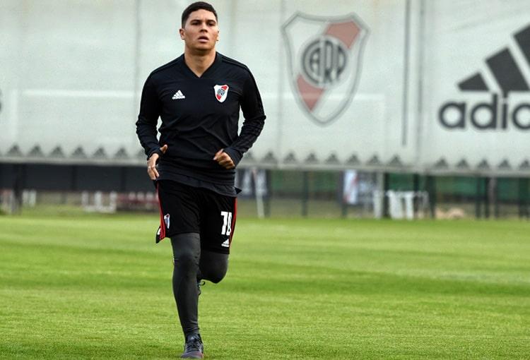 Juan Fernando Quintero, River Plate, Asociación del Fútbol Argentino, regreso, entrenamientos