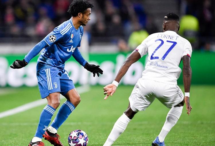 Juan Guillermo Cuadrado, Olympique de Lyon 1-0 Juventus, Champions League 2019-20