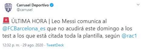 Lionel Messi, FC Barcelona, Carrusel Deportivo
