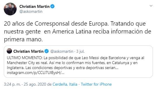 Lionel Messi, FC Barcelona, Manchester City, Christian Martin