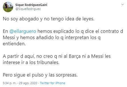 Lionel Messi, FC Barcelona, cláusula (2)