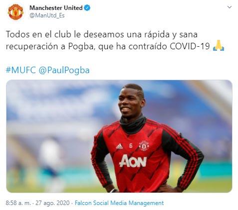 Paul Pogba, Manchester United, COVID-19