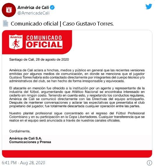 America de Cali Gustavo Torres