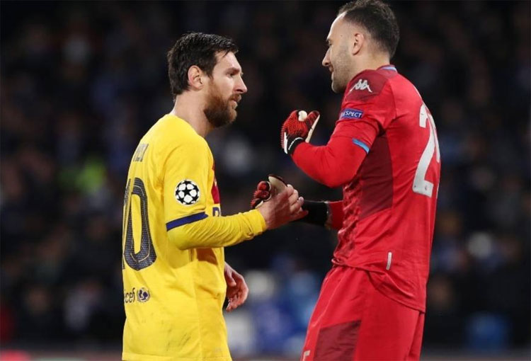 David Ospina Lionel Messi Champions League