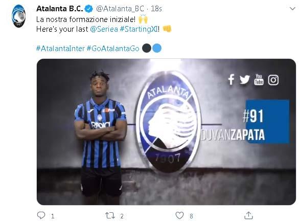 Duvan Zapata Atalanta