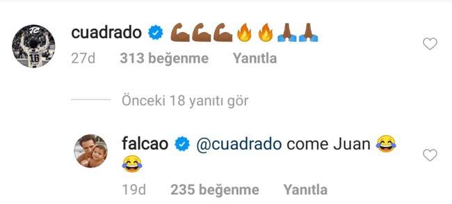 Falcao Garcia Galatasaray Juan Guillermo Cuadrado