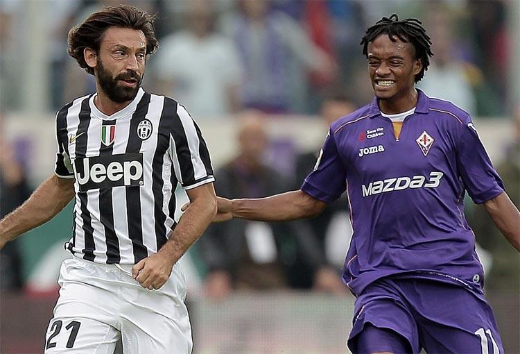 Juan Guillermo Cuadrado Andrea Pirlo Juventus
