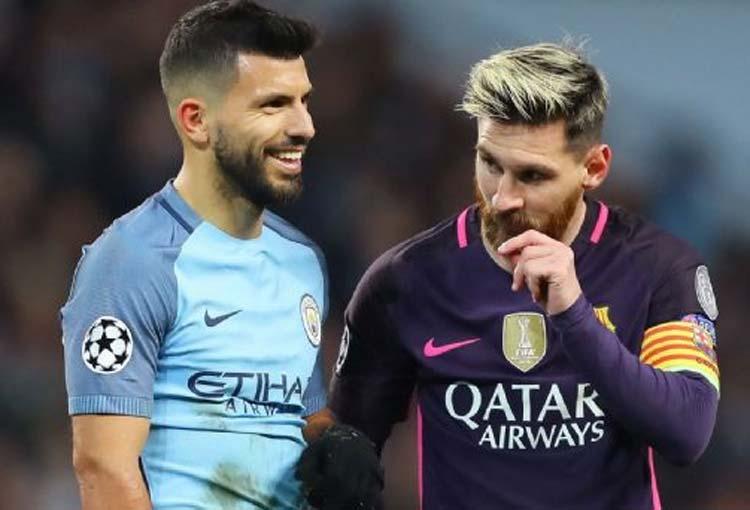 Messi dejó solo al Kun en Barcelona y las redes lo volvieron meme