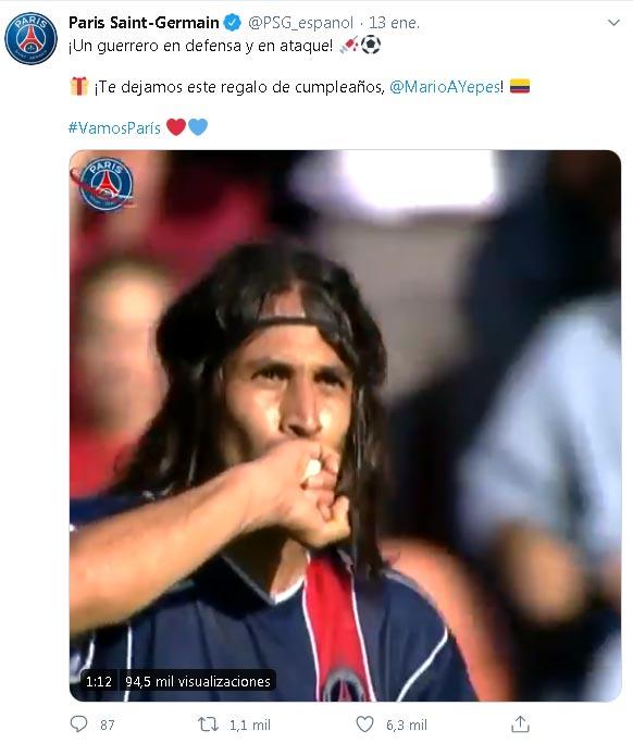 Mario Yepes PSG Champions League