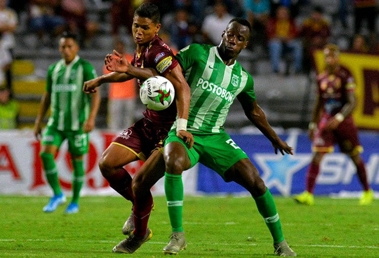 Baldomero Perlaza, Deportes Tolima 1-0 Atlético Nacional, Liga 2019-II
