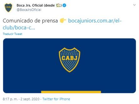 Boca Juniors, COVID-19, último reporte