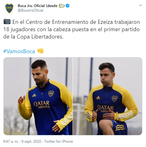 Boca Juniors, Edwin Cardona, entrenamiento