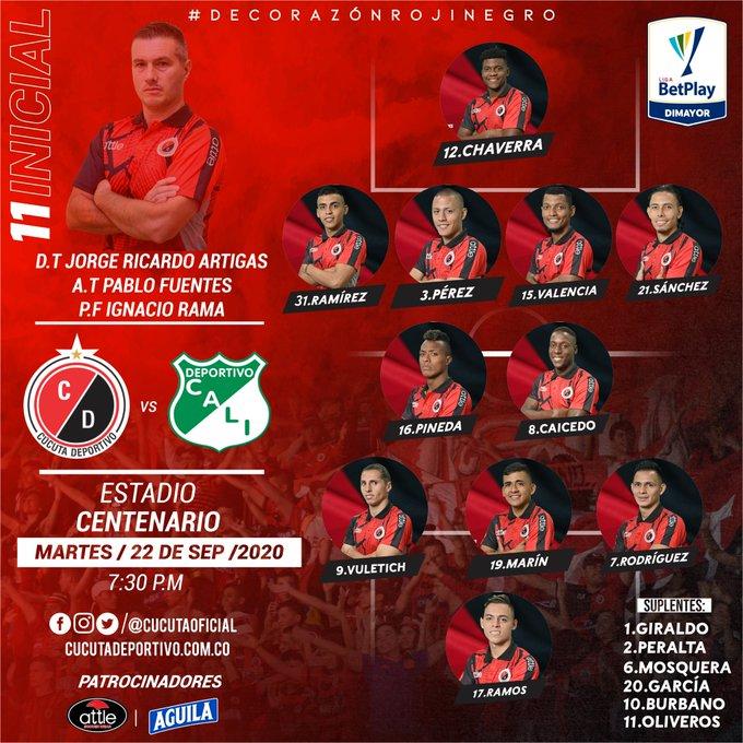 Cúcuta Deportivo, formación, Deportivo Cali, Liga 2020-I