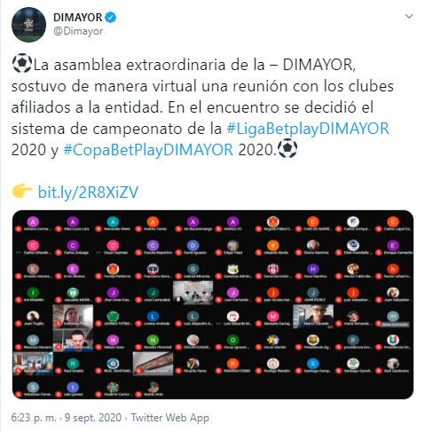 Dimayor, Liga 2020-I, Copa Colombia 2020