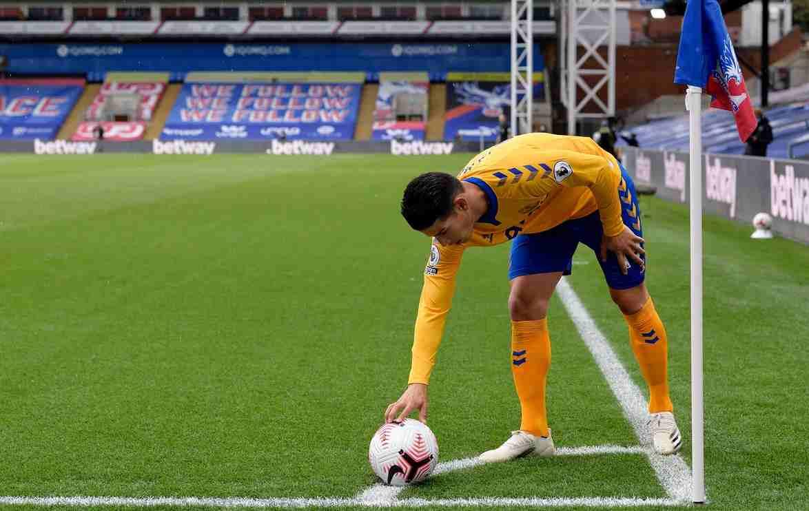 El primer récord que James logra en el Everton