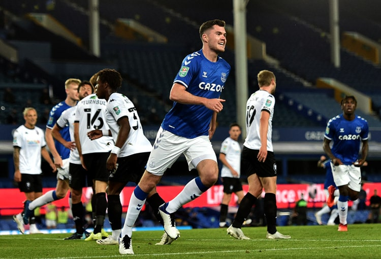Everton FC 3-0 Salford City, Copa de la Liga de Inglaterra 2020-21, James Rodríguez
