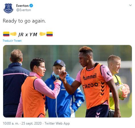 Everton FC, James Rodríguez, Yerry Mina, Crystal Palace, Premier League 2020-21