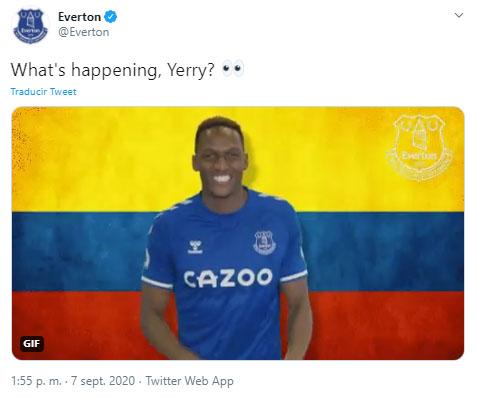 Everton FC, Yerry Mina, James Rodríguez