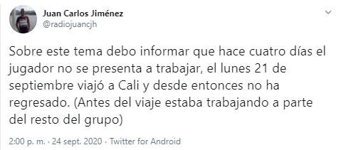 Gustavo Torres, Atlético Nacional, Liga 2020-I, Juan Carlos Jiménez (1)