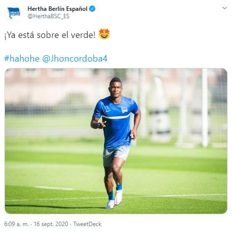 Hertha Berlín, Jhon Córdoba (1)