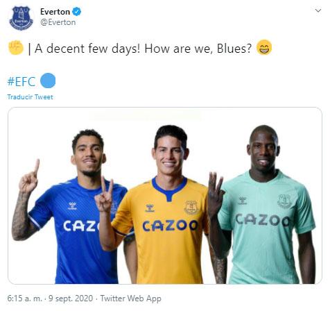 James Rodríguez, Allan Marques Loureiro, Abdoulaye Doucouré, Everton FC