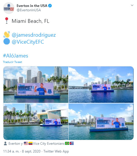 James Rodríguez, Everton FC, Miami Beach