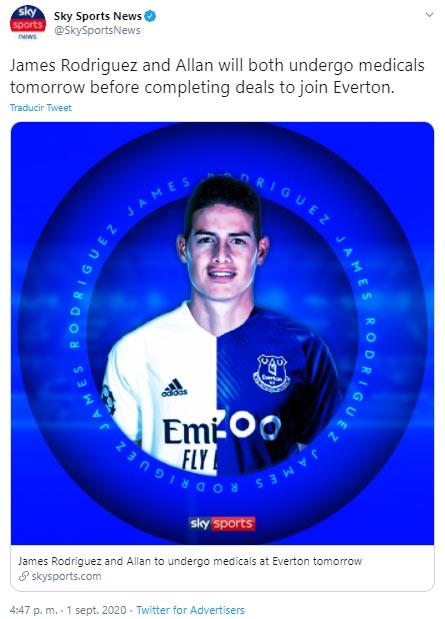 James Rodríguez, Everton FC, Real Madrid, Sky Sports News