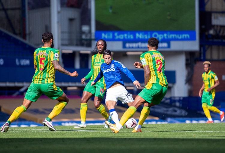 James Rodríguez, Everton FC 5-2 West Bromwich Albion, Premier League 2020-21