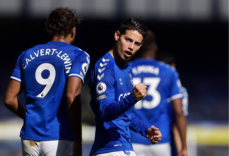 James Rodríguez, Yerry Mina, Fleetwood Town, Everton FC, Copa de la Liga de Inglaterra 2020-21