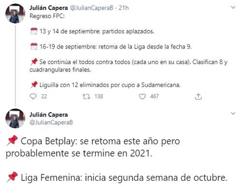 Liga 2020-I, Julián Capera