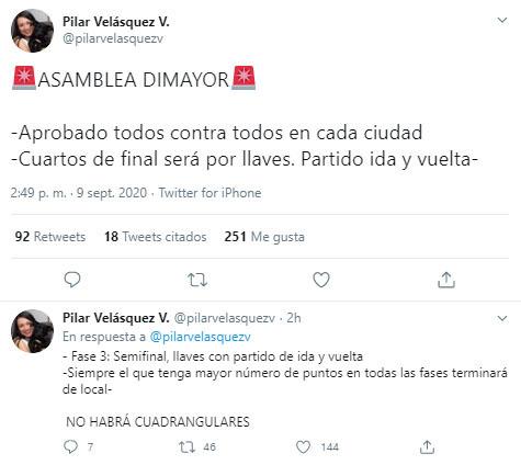 Liga 2020-I, playoffs, Pilar Velásquez, Dimayor