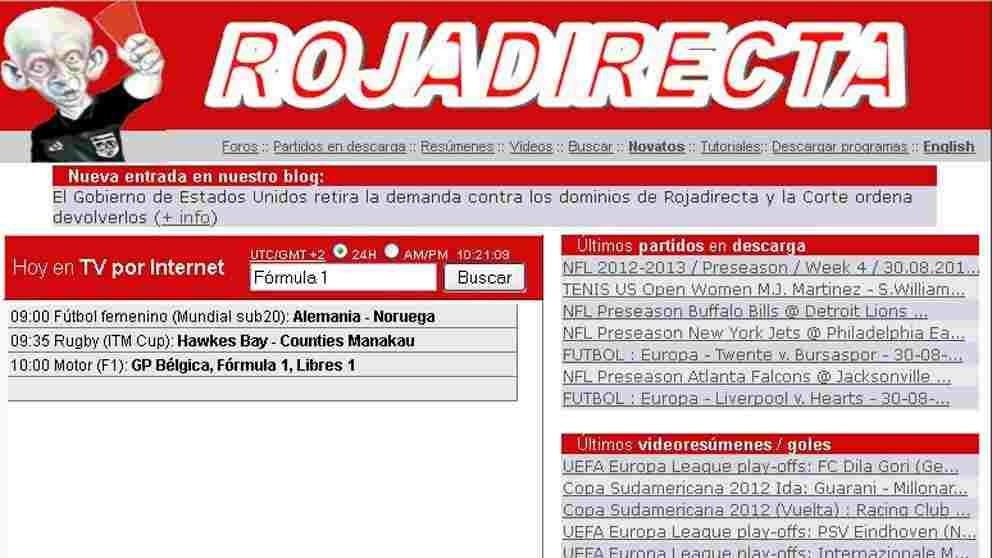 ¿Qué pasó con Roja Directa, la web de los partidos en vivo?