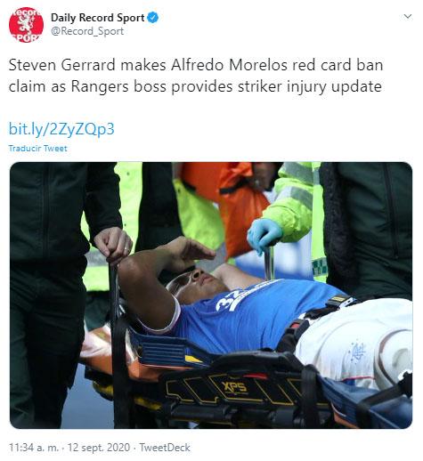 Steven Gerrard, Alfredo Morelos, Rangers FC 4-0 Dundee United FC, Scottish Premiership 2020-21