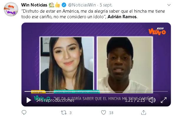 "Adrián Ramos: ""No me considero ídolo de América de Cali"""