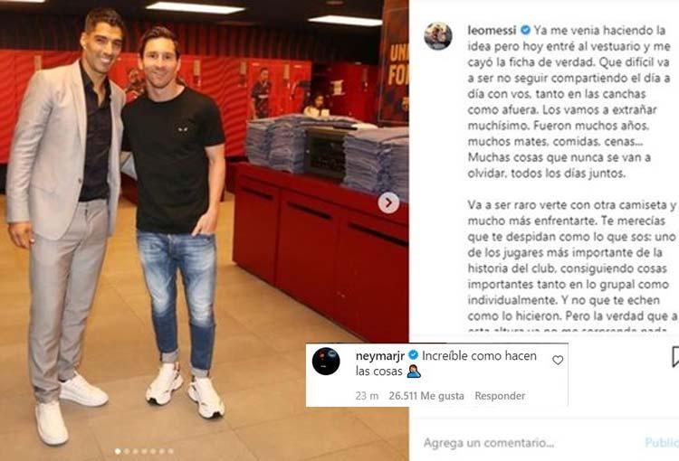 Lionel Messi, su mensaje para Luis Suárez y directivos del Barcelona