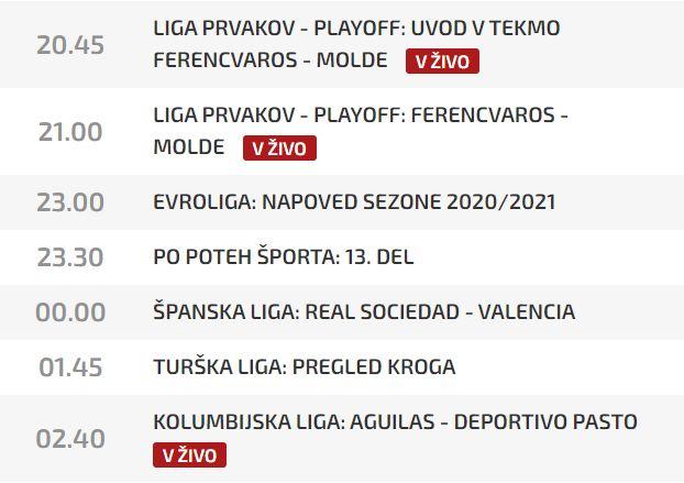 Canal de TV esloveno parrilla de television Liga betplay