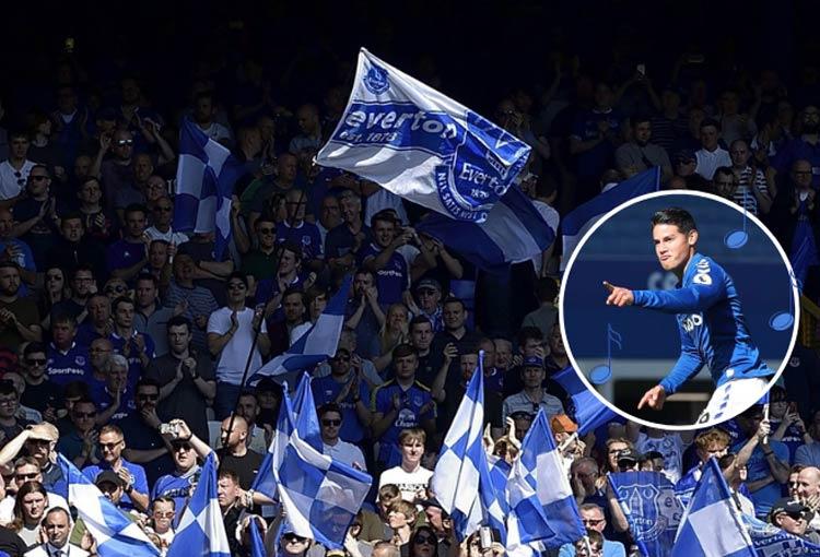 ¡Canción para James Rodríguez de los hinchas de Everton!