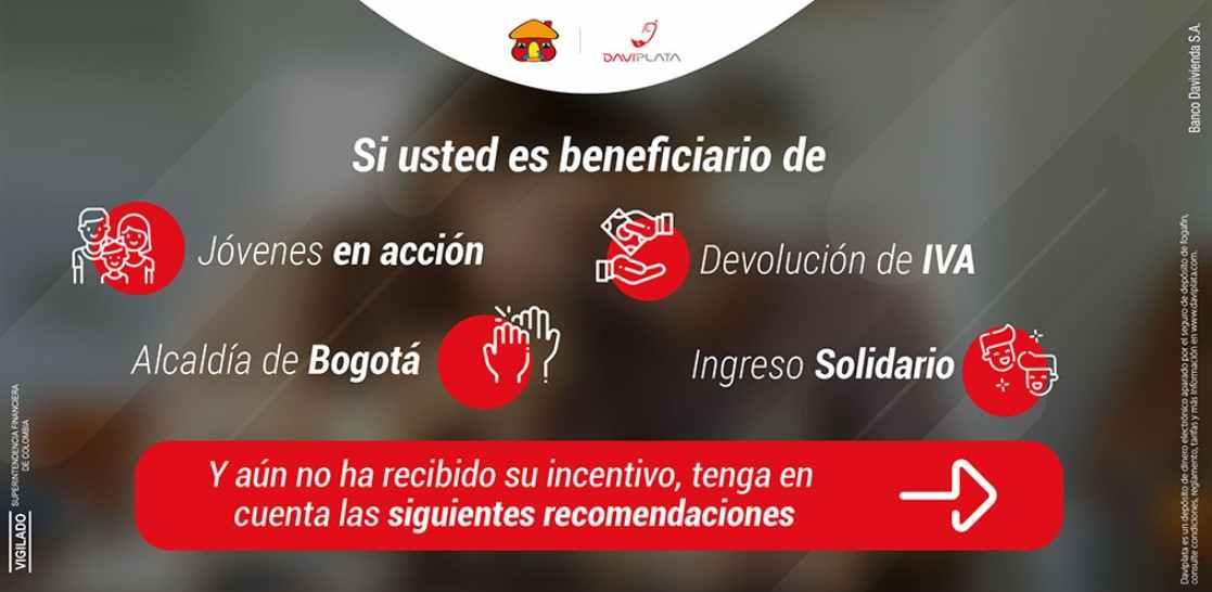 Activarse en DaviPlata para recibir el Ingreso Solidario
