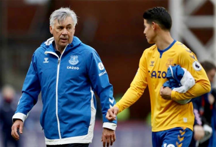 Nuevo elogio de Carlo Ancelotti a James Rodríguez