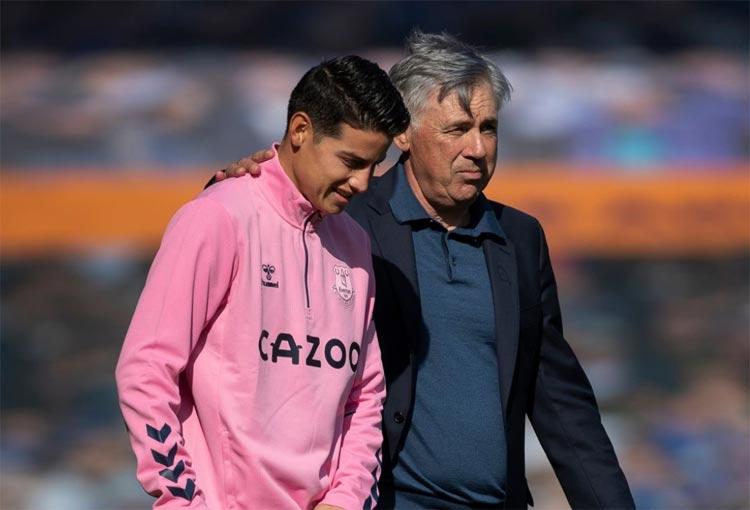Ancelotti, James Rodríguez y el reto a los delanteros de Everton