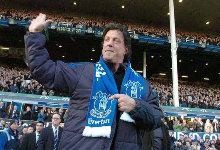 Sylvester Stallone ahora es hincha de James Rodríguez en el Everton