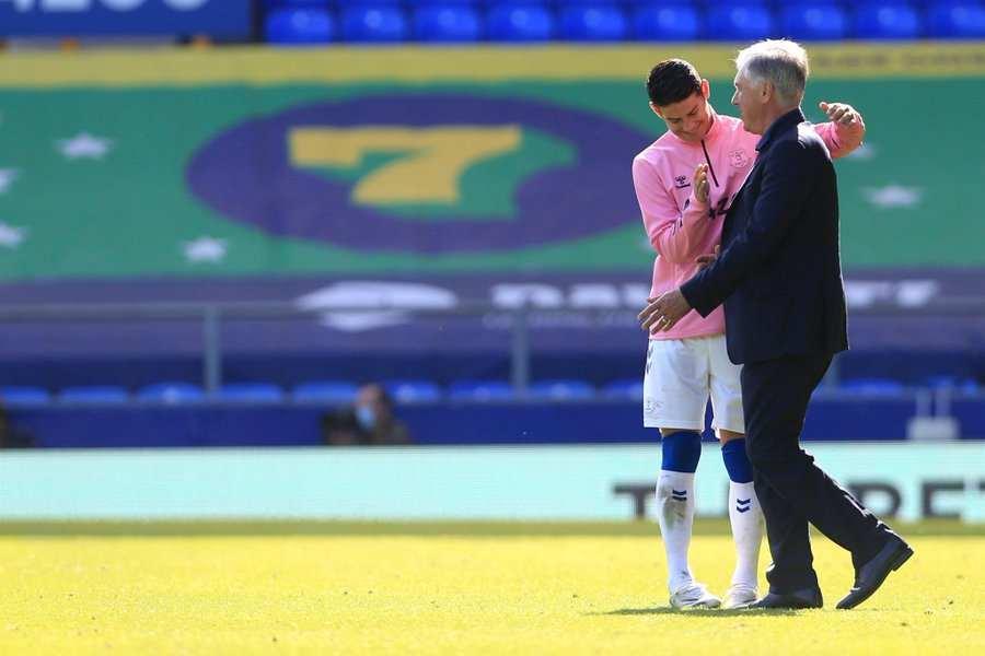Lo que dijo Carlo Ancelotti sobre el primer gol de James en Everton