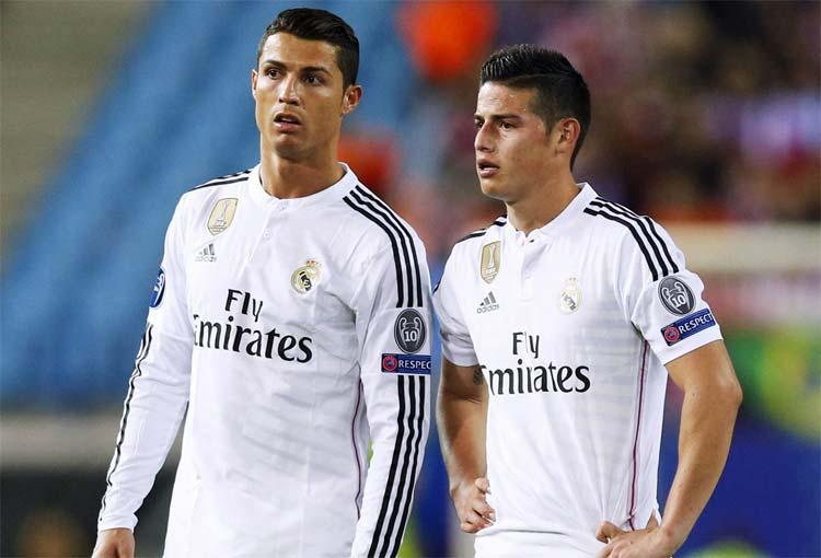 Ancelotti y el recuerdo de James Rodríguez junto a Cristiano Ronaldo