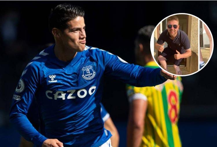 ¡Hincha de Everton se tatuó a James Rodríguez!