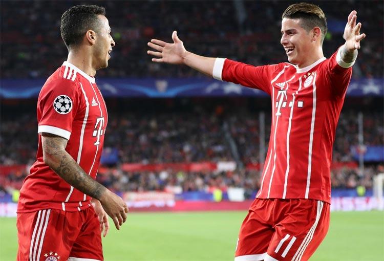 Thiago Alcántara y James Rodríguez, de compañeros a rivales en la Premier League