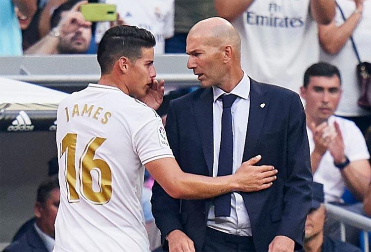 """¡Insistió en el tema! """"Zidane decidió echar a James Rodríguez"""""""